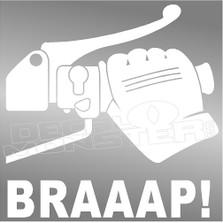Braaap Throttle Motorcycle Decal Sticker