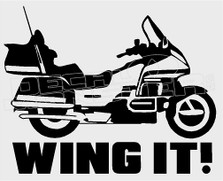 Wing It Goldwing Motorcycle Decal Sticker