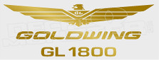 Goldwing Logo Motorcycle Decal Sticker
