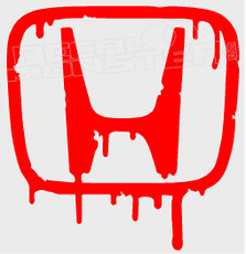 Honda Melting Logo Decal Sticker
