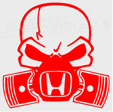 Honda Gas Mask Piston Decal Sticker