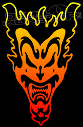 Tribal Flames Joker Decal Sticker