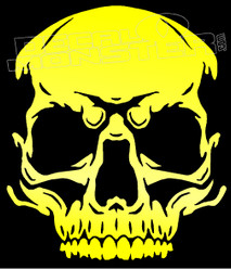 Serious Skull Silhouette 11 Decal Sticker