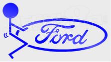 Stickman Fuck Ford Decal Sticker