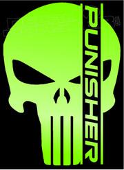 Punisher Skull Wording Decal Sticker