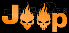 Jeep Flaming Punisher Skulls 1 Decal Sticker