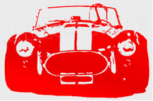 AC Cobra 3 Silhouette Decal Sticker