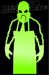 Butcher Silhouette Gas Mask Decal Sticker