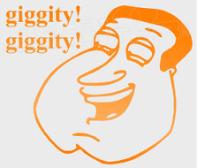 Family Guy Quagmire Giggity Giggity Decal Sticker