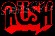 Rush Band Silhouette 1 Decal Sticker