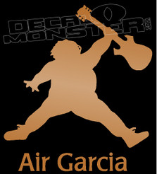 Air Garcia Guitar Silhouette 1 Decal Sticker