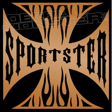 Sportster Iron Cross Motorcycle Decal Sticker