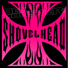 Shovelhead Iron Cross Motorcycle Decal Sticker