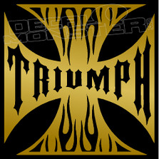 Triumph Iron Cross Motorcycle Decal Sticker
