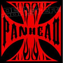 Panhead Iron Cross Motorcycle Decal Sticker
