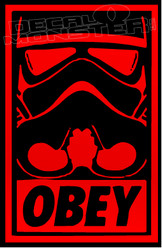 Obey The Storm Trooper Decal Sticker