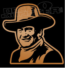 John Wayne Cowboy Decal Sticker