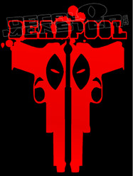 Deadpool Silhouette Decal Sticker