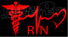 Medical Registered Nurse Decal Sticker