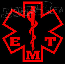 EMT Emergency Medical Technician Star of Life Decal Sticker