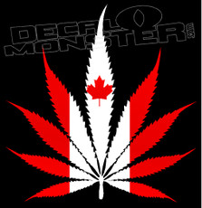 Canada Cannabis Flag 2 Decal Sticker
