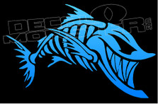 Tribal Skeleton Fish Decal Sticker