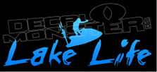 Lake Life PWC Silhouette Words 1 Decal Sticker