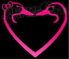 Duck Love Heart Decal Sticker
