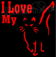 I Love My Kitty Cat Pets Decal Sticker