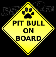 Caution Pit Bull On Board Decal Sticker