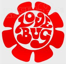 Love Bug Flower Decal Sticker