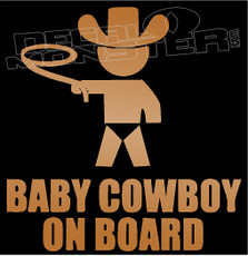 Cowboy Baby On Board Decal Sticker