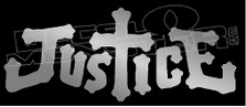 Justice Catholic Christian Wording Decal Sticker