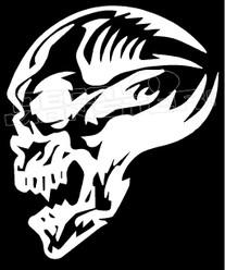 Tribal Skull Side 12 Decal Sticker