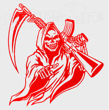 Grim Reaper With M16 Decal Sticker