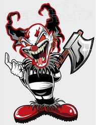 Crazy Killer Clown Decal Sticker