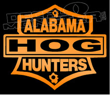 Alabama Hog Hunters Decal Sticker