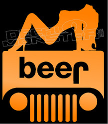 Beer and Babes Jeep Decal Sticker
