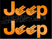 Set of Jeep Shockers Decal Sticker