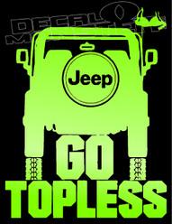 Jeep go topless Bra Decal Sticker