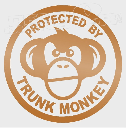 Protected By Trunk Monkey Decal Sticker Decalmonstercom