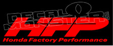 Honda Factory Performance Decal Sticker