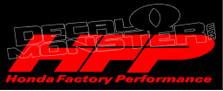 Honda Factory Performance Decal Sticker