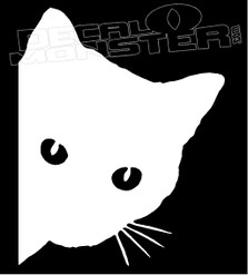 Crazy Cat Silhouette Decal Sticker