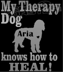 My Therapy Dog Your Text Knows how to Heal Decal Sticker