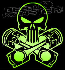 Punisher and Pistons Decal Sticker