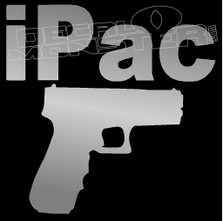 iPac Guns Decal Sticker