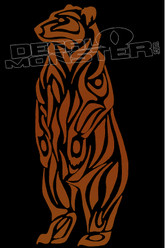 Tribal Style Grizzly Bear Decal Sticker