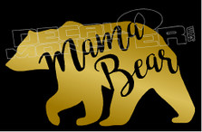 Mama Bear Silhouette Decal Sticker