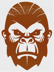 Angry Ape Silhouette Decal Sticker